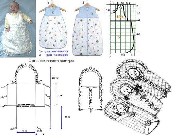 Детские конверты, вязанные спицами для новорожденных мальчиков и девочек от 0 до 3 месяцев — на выписку, с капюшоном: схемы с подробным описанием для начинающих