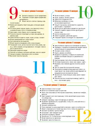 Развитие ребенка от 6 месяцев до года - режим, вес, умения - agulife.ru - agulife.ru