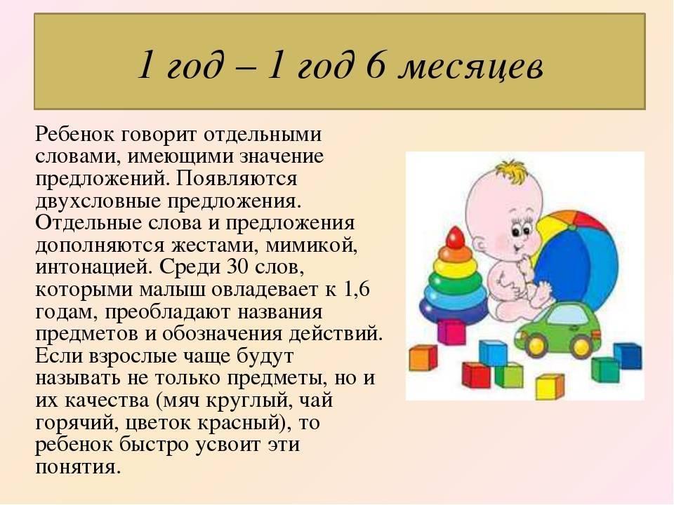 ➤ что ребенок должен уметь в 1 год