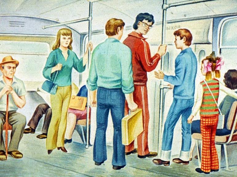 Должен ли ребенок уступать место в общественном транспорте?