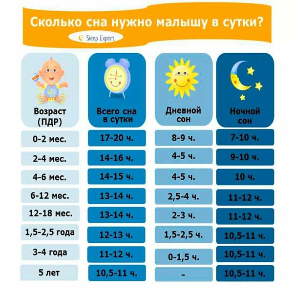Сколько должны спать дети в первый год жизни: все об особенностях режима