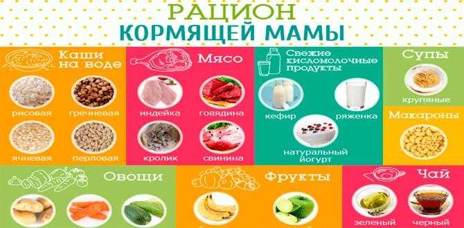 Что можно есть при грудном вскармливании: какие продукты нельзя употреблять во время кормления грудью?