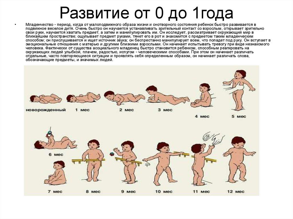 Физическое развитие ребенка до 1 года