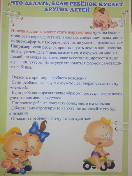 Эффективные методы по отучению ребенка кусаться