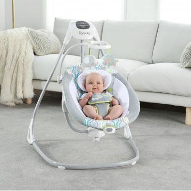 Какие электронные  качели для новорожденных лучше купить | детские товары