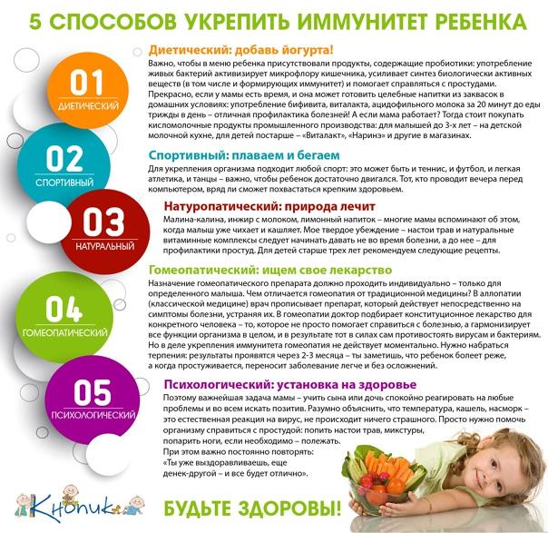 Как поддержать иммунитет ребенка осенью? советы специалистов