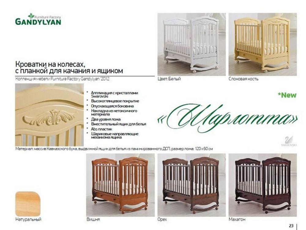 Размеры детских кроваток для новорожденных