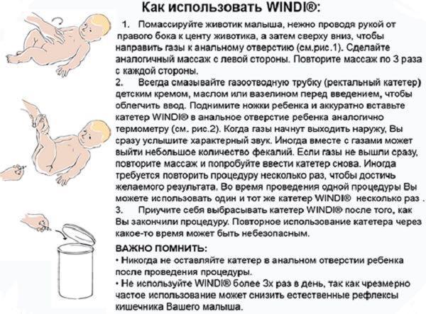 Как использовать газоотводную трубочку - всё о грудничках