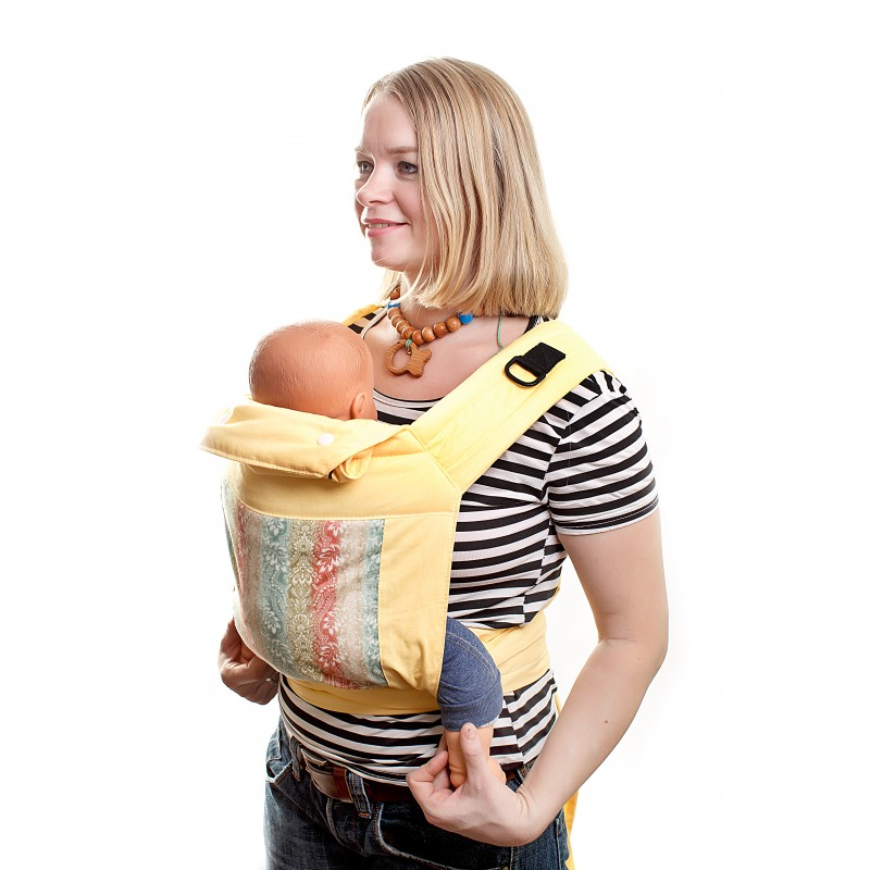 Как завязать слинг с кольцами для новорожденных